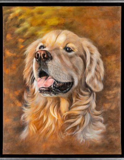 Golden Glow on Smiley | Size 40 x 50